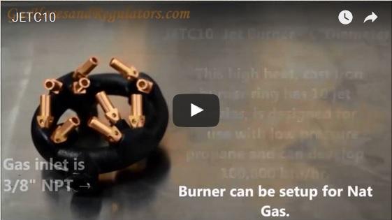10 Tip Jet Ring Burner