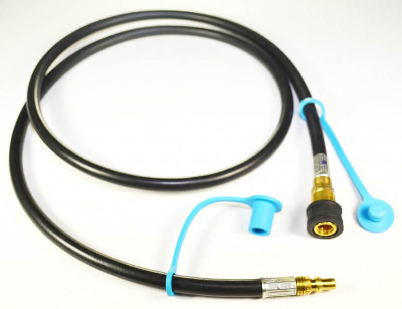 Low Pressure QD Hose, Includes Dust Cap and Dust Plug