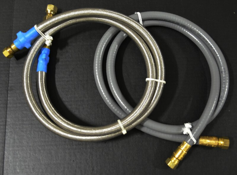 "3/8"" ID Low Pressure Hose, 3/8"" Female Gas Flare x 3/8"" Female Gas Flare"
