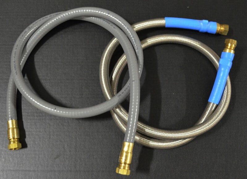 "1/2"" ID Low Pressure Gas Hose, 1/2"" Female Gas Flare x 1/2"" Female Gas Flare"