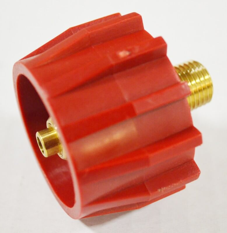 Red Acme Type 1 Wrench-less Safety Tank Connector with Excess Flow Protection