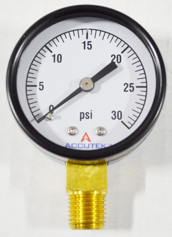 Pressure Gauge, for PSI with 1/4