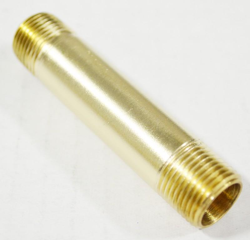 "Brass Pipe Nipple, 3/8"" ID Male NPT x 3/8"" ID Male NPT"