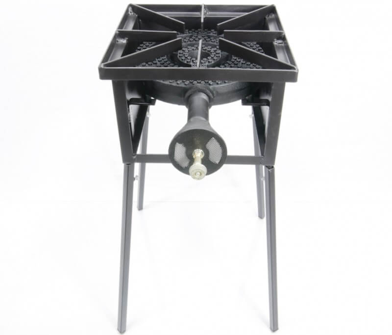 "Low Pressure Propane or Natural Gas Single Burner Cooker Stand with a 12"" Diameter 120,000 Btu/hr Burner"