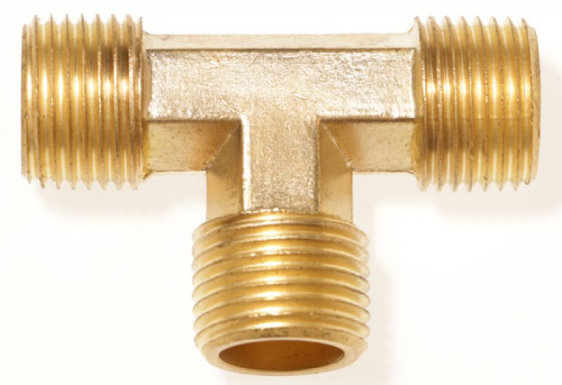 Extruded Tee, Male-Male-Male NPT