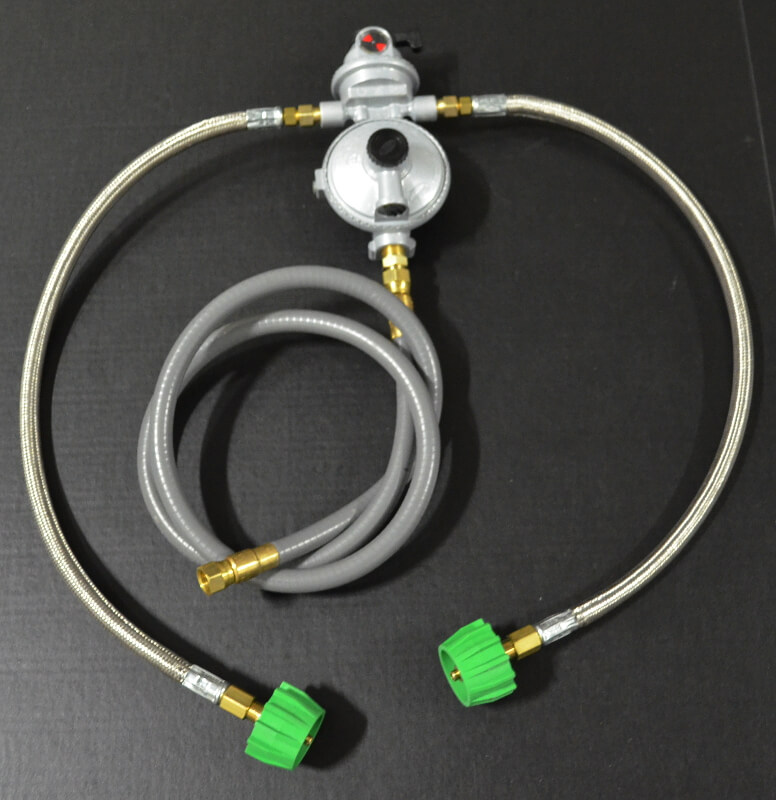Dual Tank Auto Changeover Low Pressure Regulator with SS hoses