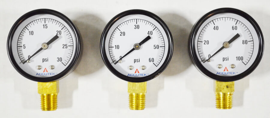 Pressure Gauge with 1/4in Male NPT Fitting