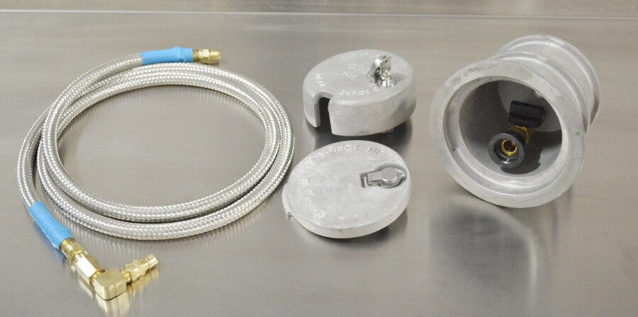 3/8in Cast Aluminum Outlet Kit 3/8in ID x 8ft Hose Included