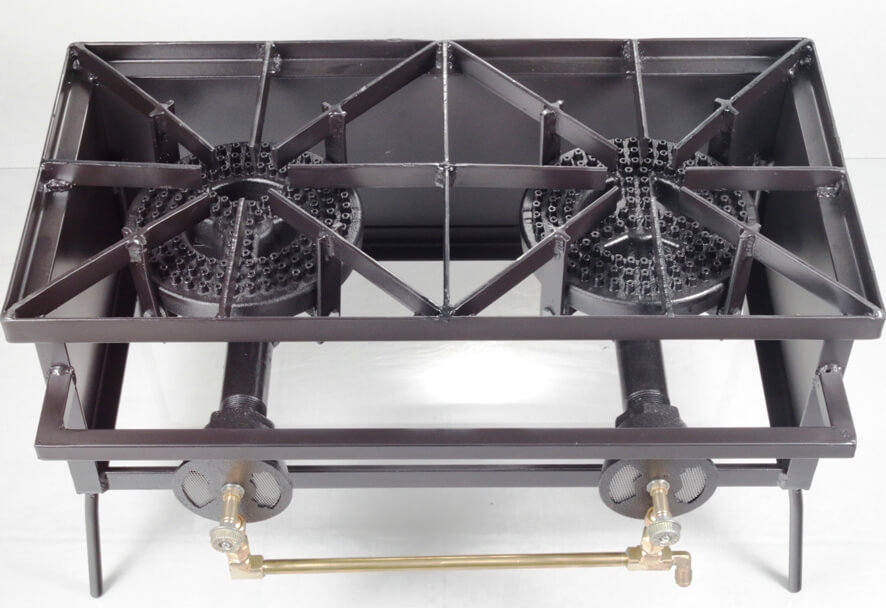 Double Burner Cooker Stand with 8 inch Burners