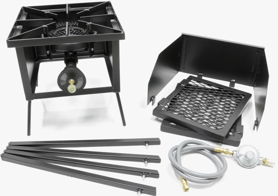 Single Burner Cooker Stand with a 8 inch Burner COMBO