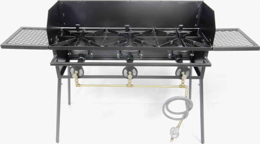 Triple Burner Cooker Stand with 8 inch Burners COMBO