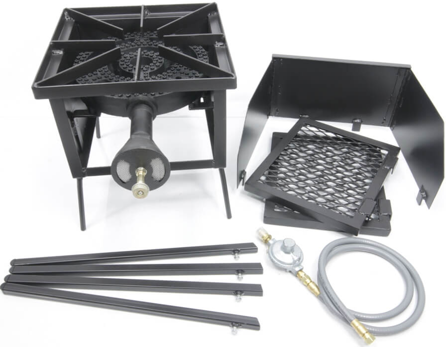 Single  Burner Cooker Stand with a 12 inchDiameter Burner COMBO