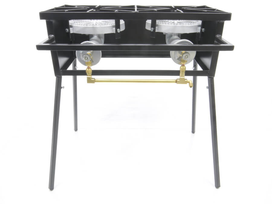 Double Burner Cooker Stand with 10 inch Diameter Burners