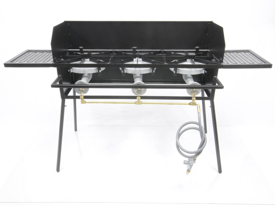 Triple Burner Cooker Stand with  10 inch Burners COMBO