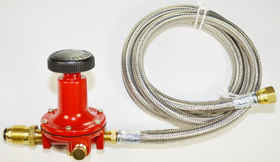 0-20 PSI High Pressure ADJUSTABLE Regulator Assembly with Optional Stainless Steel hose