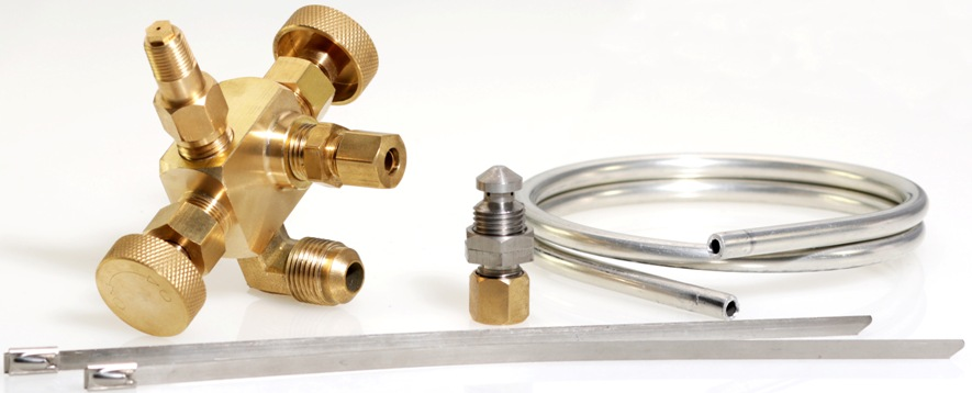 Combo package of twin gas needle valve components